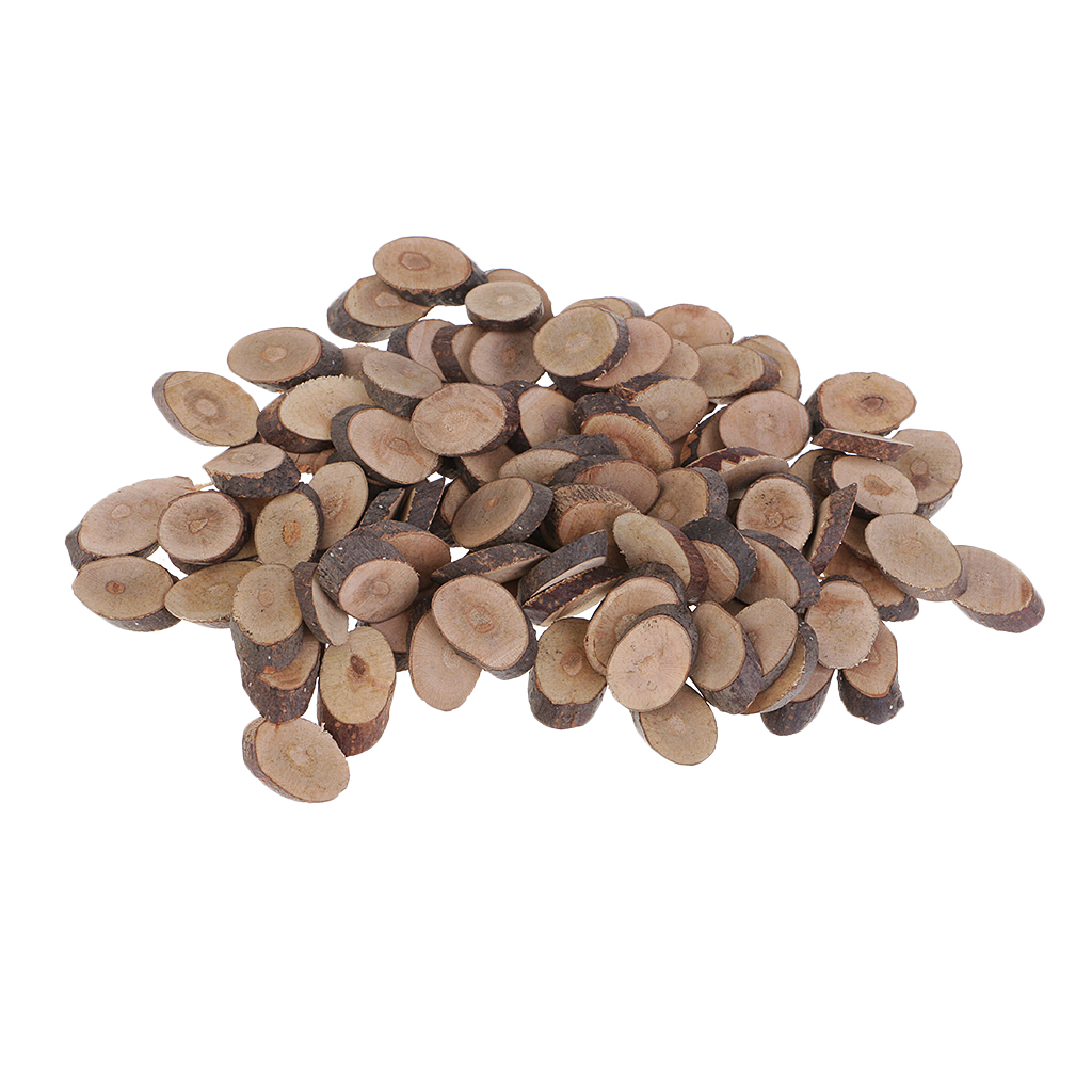 Assorted Sizes Rustic Wood Log Slices Discs Cutout Circle Semicircle Wood Disks Crafts Paint Decor For Wedding DIY Decorations