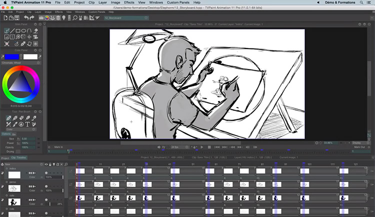 TVPaint storyboard sample