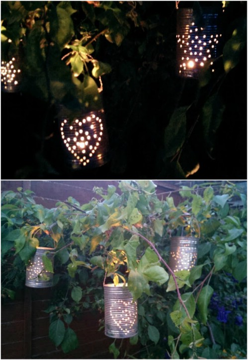 Tin Can Lanterns - 20 Genius DIY Recycled and Repurposed Christmas Crafts
