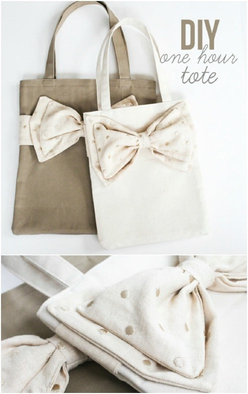 Lovely DIY Bow Tote