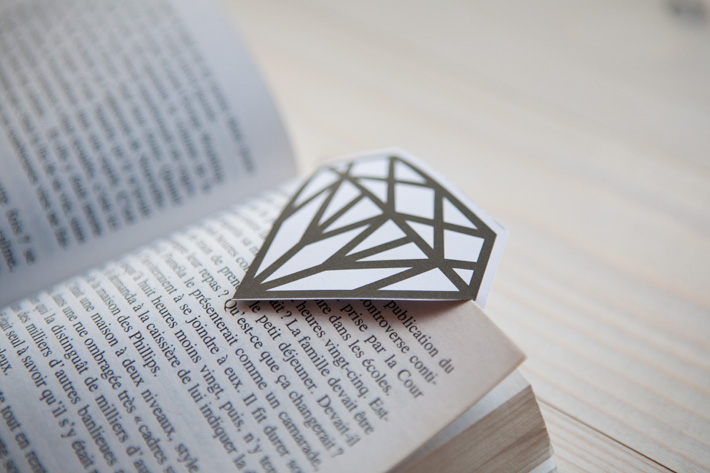 DIY Gem Bookmark