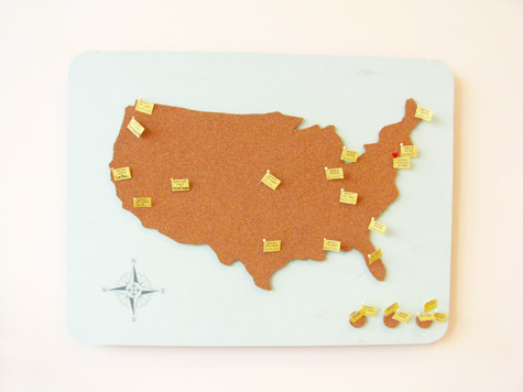 DIY American Travel Map