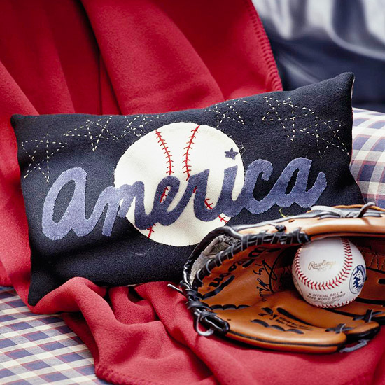 DIY Baseball Pillow