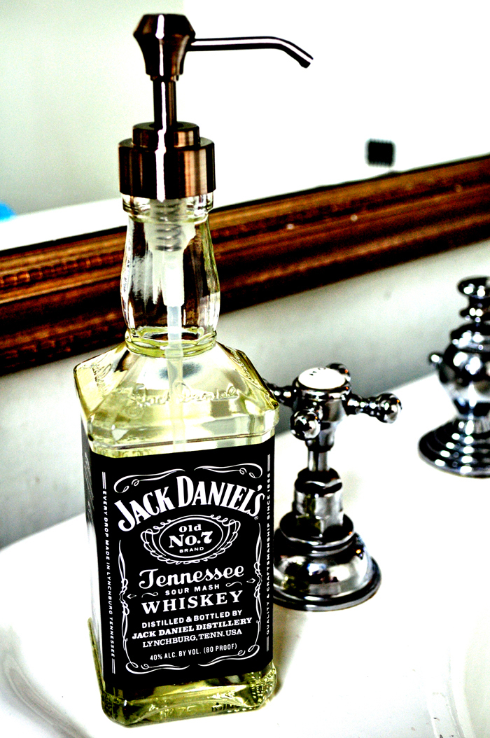 DIY Jack Daniels Hand Soap Dispenser