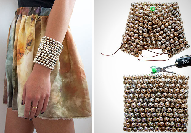 Bead metallic cuff
