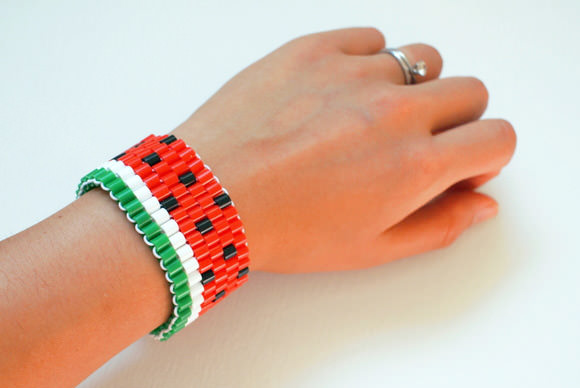 Diy watermelon bracelet