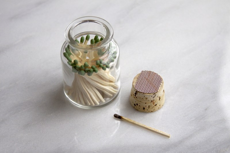 Matchstick jar favour