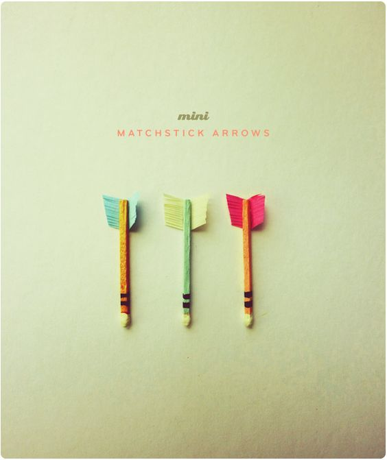 Mini matchstick arrows