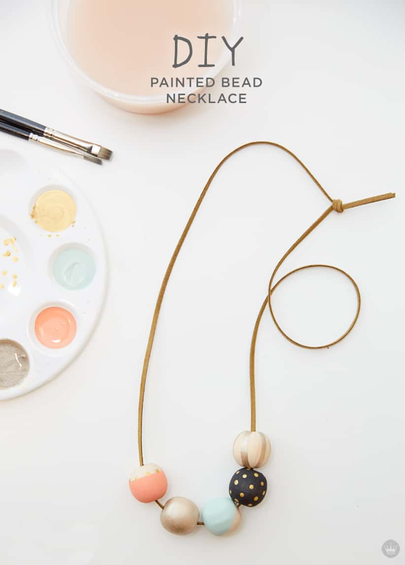 Diy painted wood beads