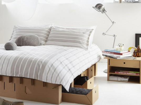 Karton-furniture-bed-drawers