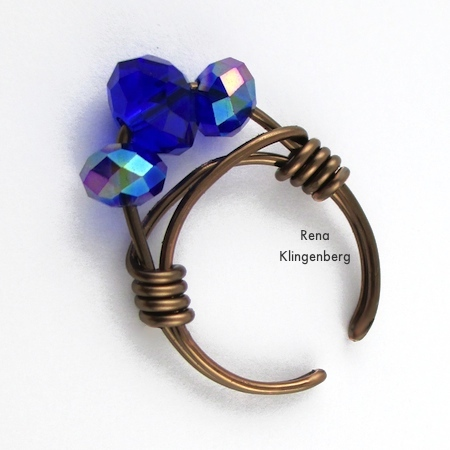 Adjustable Wire-Wrap Bead Ring - Tutorial by Rena Klingenberg