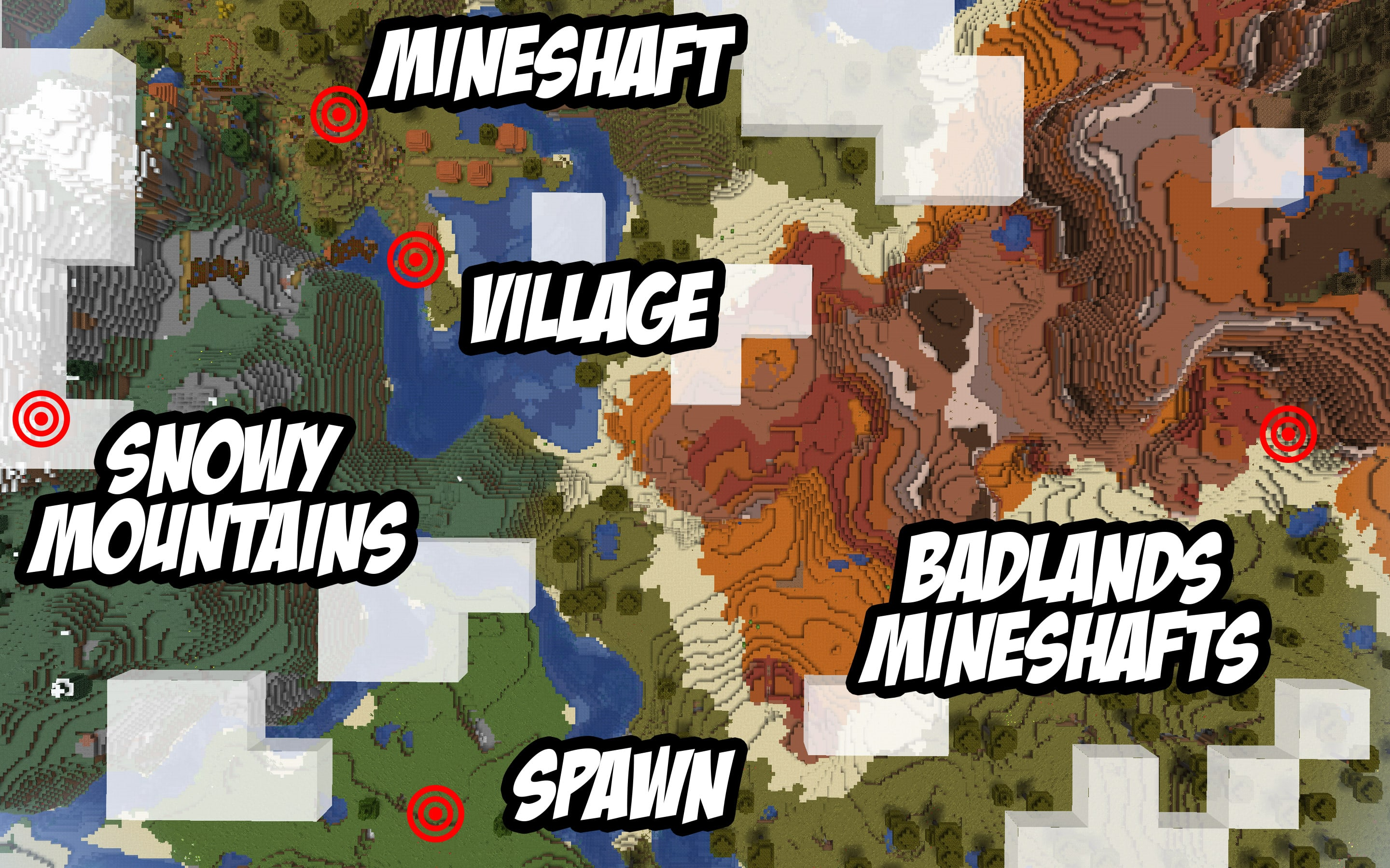 Minecraft Seed - Mineshafts - 1.14