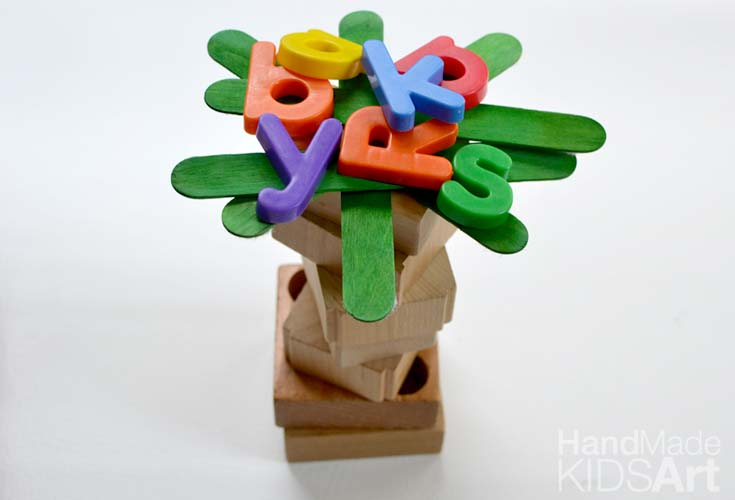 alphabet magnet tree