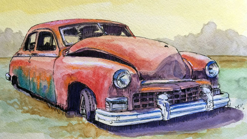 Drawing idea - old car