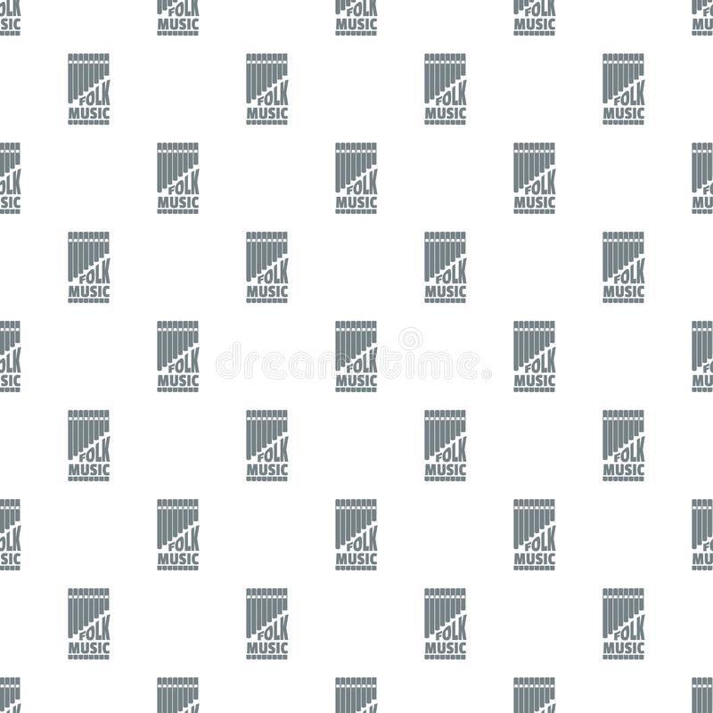 Flute pan pattern vector seamless. Repeat for any web design vector illustration
