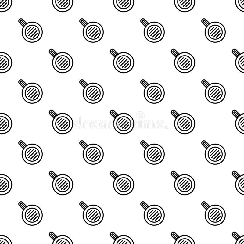 Meal fry pan pattern seamless. Repeat background for any web design stock illustration