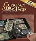 Whitman Premium Currency Album Refill Pages for Large Banknotes