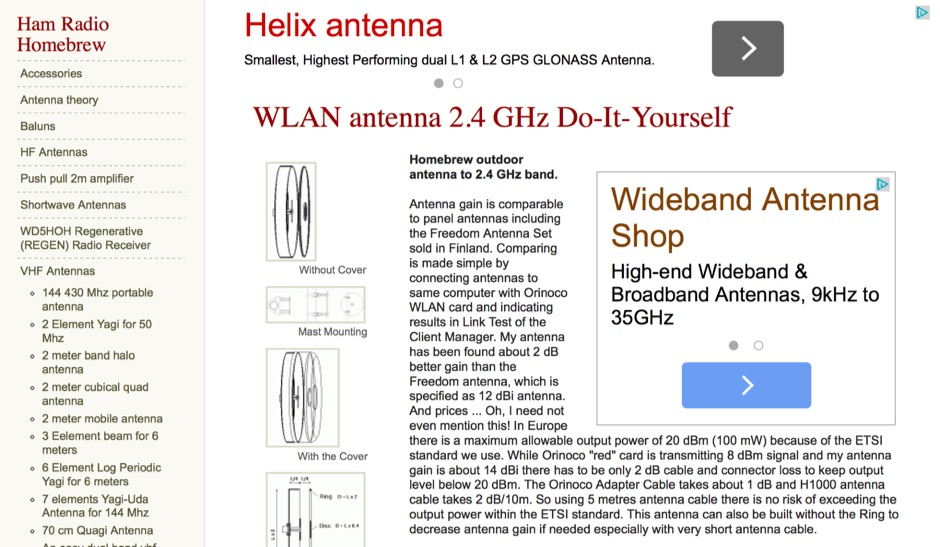 DXZone WLAN antenna 2.4 GHz Do-It-Yourself