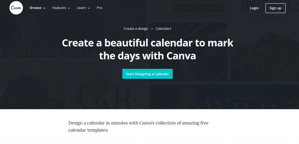 Canva Calendar Maker