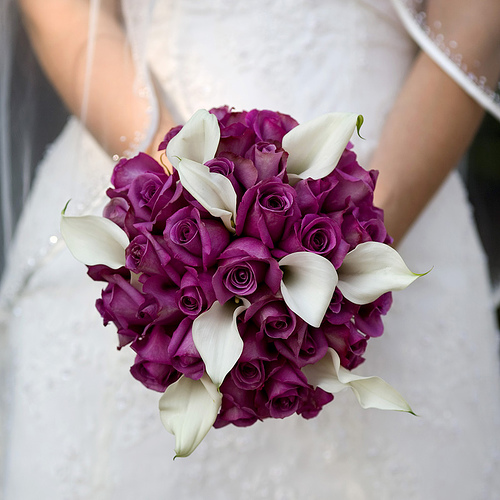 How to make a bridal bouquet - Fuchsia and White Bridal Bouquet