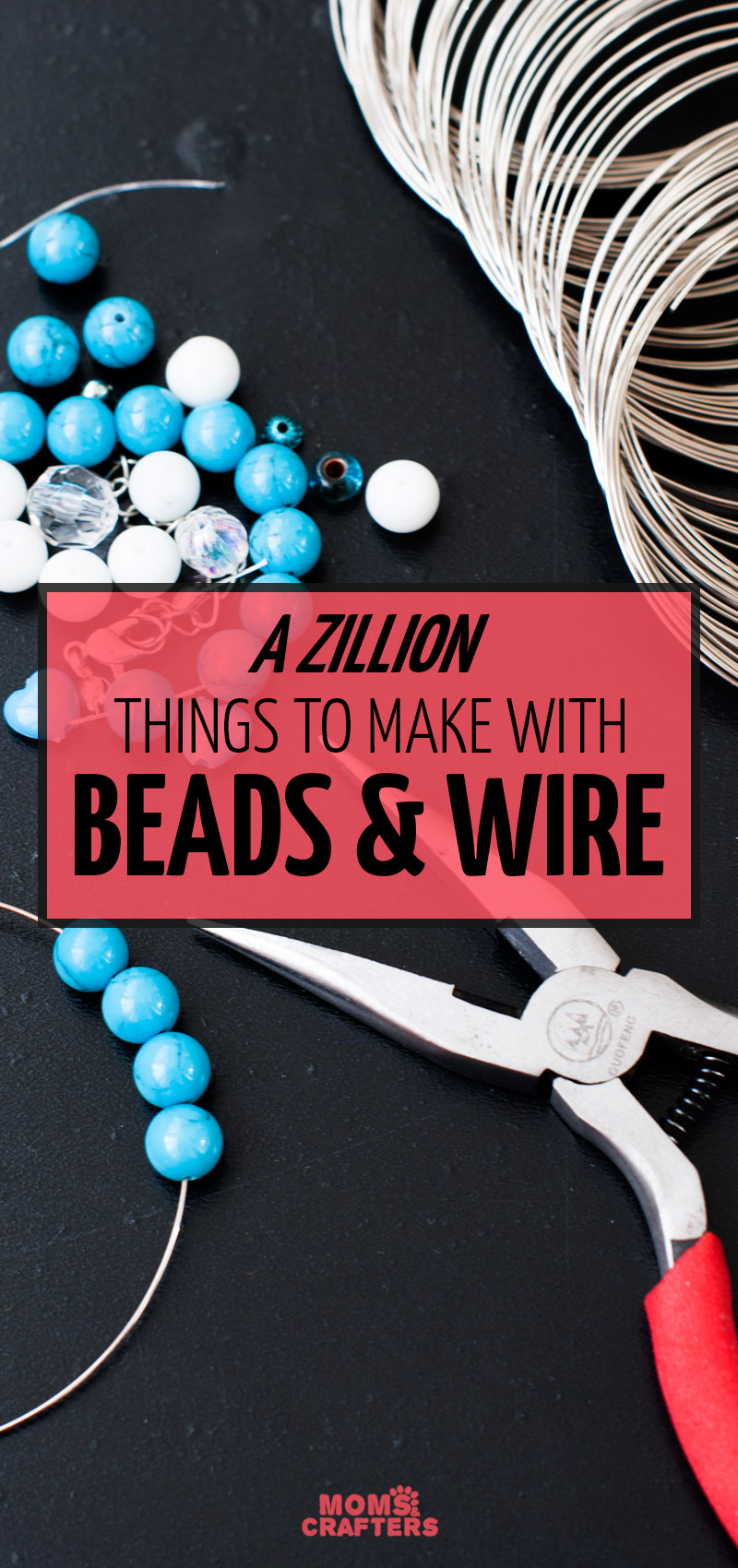 Click for the ultimate list of things to make with beads and wire! These fun jewelry making projects for beginners, and non-jewelry projects all use beadss and wire and are fun for beginners.