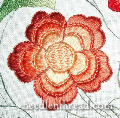 Japanese Silk Embroidered Flower