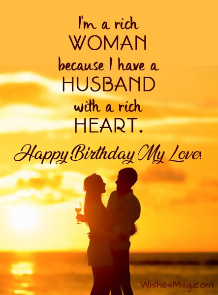 Cute Birthday Wishes for Husband