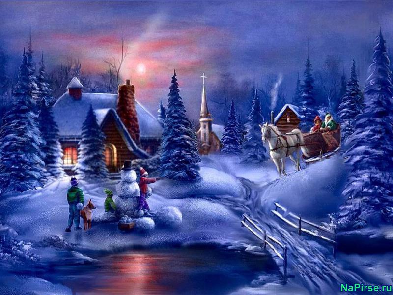 новогодние рисунки: