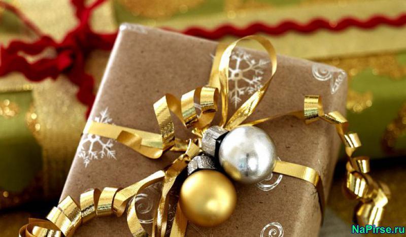 Оформление подарка на новый год своими руками
