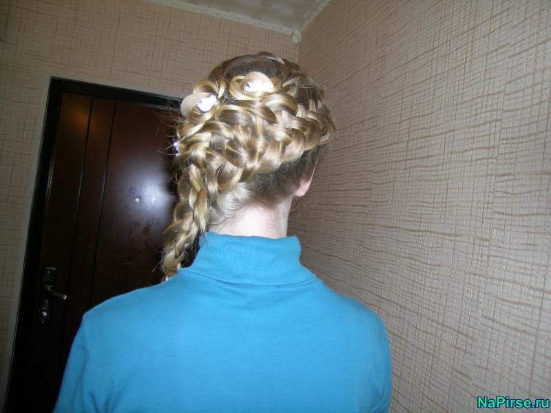 Картинки кос на короткие волосы - 1
