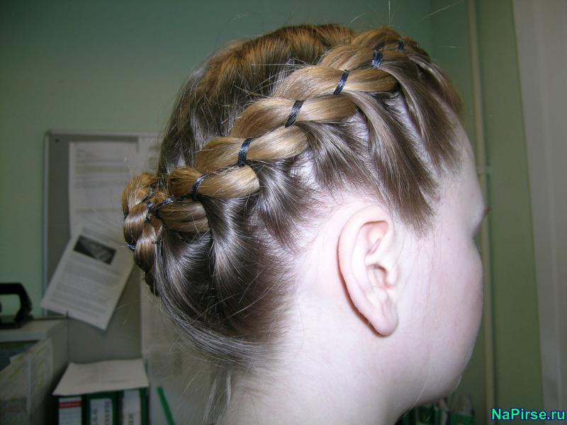 Картинки кос на короткие волосы - 673f